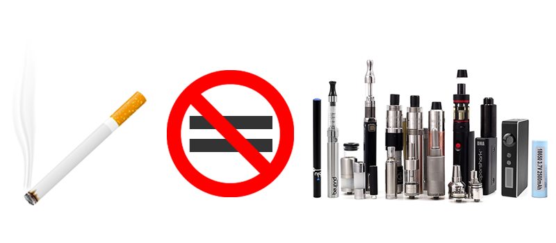 e cigarette not equal cigar